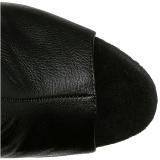 Zwart Kunstleer 16,5 cm ILLUSION-3019 overknee laarzen med plateauzool