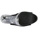 Zwart Kunstleer 16,5 cm ILLUSION-3019 overknee laarzen met plateauzool
