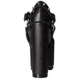 Zwart Kunstleer 16 cm CRAMPS-02 Gothic Pumps Schoenen