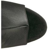 Zwart Kunstleer 18 cm ADORE-3019 overknee laarzen met hoge hakken