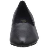 Zwart Kunstleer 5 cm FAB-420W Dames Pumps Schoenen Plat