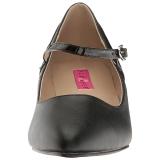 Zwart Kunstleer 5 cm FAB-425 grote maten pumps schoenen