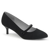 Zwart Kunstleer 6,5 cm KITTEN-03 grote maten pumps schoenen