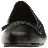 Zwart Kunstleer ANNA-01 grote maten ballerina´s schoenen