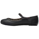 Zwart Kunstleer ANNA-02 grote maten ballerina´s schoenen