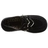 Zwart Kunstleer CREEPER-206 Plateau Creepers Schoenen Dames