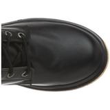 Zwart Kunstleer DEFIANT-200 Laarzen met Veters Mannen