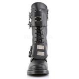 Zwart Kunstleer DEFIANT-302 Laarzen met Gespen Mannen