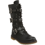 Zwart Kunstleer DEFIANT-303 Laarzen met Veters Mannen