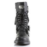 Zwart Kunstleer DEFIANT-306 Laarzen met Gespen Mannen