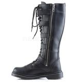 Zwart Kunstleer DEFIANT-420 Laarzen met Gespen Mannen