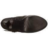 Zwart Kunstleer Wijde schacht 13 cm CHLOE-308 brede schacht overknee laarzen