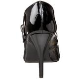 Zwart Lak 10,5 cm VANITY-440 Dames pumps met lage hak