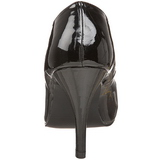 Zwart Lak 10 cm DREAM-420 Dames Pumps Schoenen Plat