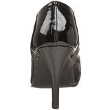 Zwart Lak 10 cm DREAM-420 Hoge Hakken Pumps voor Heren