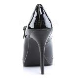 Zwart Lak 11 cm BLISS-31 Mary jane pumps met naaldhakken