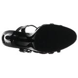 Zwart Lak 12 cm FLAIR-420 Dames Sandalen met Hak