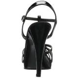 Zwart Lak 12 cm FLAIR-420 Hoge Hakken voor Mannen