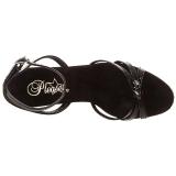 Zwart Lak 12 cm FLAIR-436 Dames Sandalen met Hak