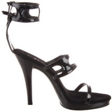 Zwart Lak 12 cm FLAIR-458 Dames Sandalen met Hak
