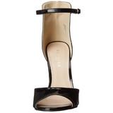 Zwart Lak 13 cm AMUSE-14 Hoge Avond Sandalen met Hak