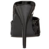 Zwart Lak 13 cm Pleaser SEDUCE-101 Hoge Dames Slippers
