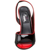 Zwart Lak 13 cm SEDUCE-117 High Heels Sandalen met Hak