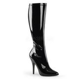 Zwart Lak 13 cm SEDUCE-2000 Dameslaarzen met hak voor Heren