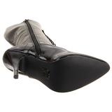 Zwart Lak 13 cm SEDUCE-2020 Dames Rijglaarzen Hoge Hakken