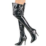 Zwart Lak 13 cm SEDUCE-3000 overknee laarzen met hakken