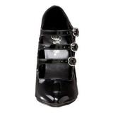 Zwart Lak 13 cm SEDUCE-453 Pumps Hoge Hakken voor Mannen