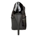 Zwart Lak 13 cm SEDUCE-460 Hoge Hakken Pumps voor Heren