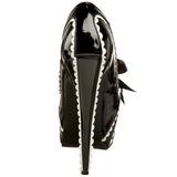 Zwart Lak 14,5 cm Burlesque TEEZE-14 damesschoenen met hoge hak