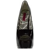 Zwart Lak 14,5 cm Burlesque TEEZE-22 Pumps Schoenen met Naaldhakken