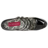 Zwart Lak 14,5 cm TEEZE-05 damesschoenen met hoge hak