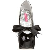Zwart Lak 14,5 cm TEEZE-12 damesschoenen met hoge hak