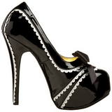 Zwart Lak 14,5 cm TEEZE-14 damesschoenen met hoge hak