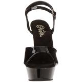 Zwart Lak 14 cm ALLURE-609 Hoge Hakken schoenen met stiletto hak