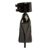 Zwart Lak 15,5 cm DOMINA-434 Hoge Hakken Pumps voor Heren