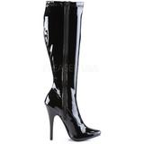 Zwart Lak 15 cm DOMINA-2000 Dames Laarzen Hoge Hakken