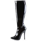 Zwart Lak 15 cm DOMINA-2000 Dameslaarzen met hak voor Heren