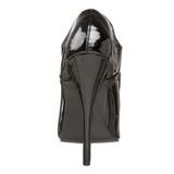 Zwart Lak 15 cm DOMINA-460 Pumps Dames Schoenen Plat