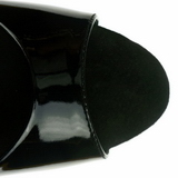Zwart Lak 23 cm Pleaser INFINITY-912SP Hoge Hakken Plateau