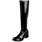 Zwart Lak 5 cm RETRO-300 Dames Laarzen Hoge Hakken