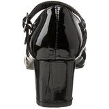 Zwart Lak 5 cm SCHOOLGIRL-50 Klassieke Pumps met Hakken