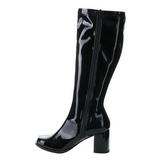 Zwart Lak 7,5 cm Funtasma GOGO-303 Dames Laarzen