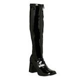 Zwart Lak 8,5 cm Funtasma GOGO-300 Dames Laarzen