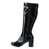 Zwart Lak 8,5 cm Funtasma GOGO-303 Dames Laarzen