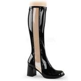 Zwart Lak 8,5 cm GOGO-303 Dameslaarzen met hak voor Heren
