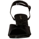 Zwart Lak 8 cm BELLE-309 Hoge Hakken voor Mannen